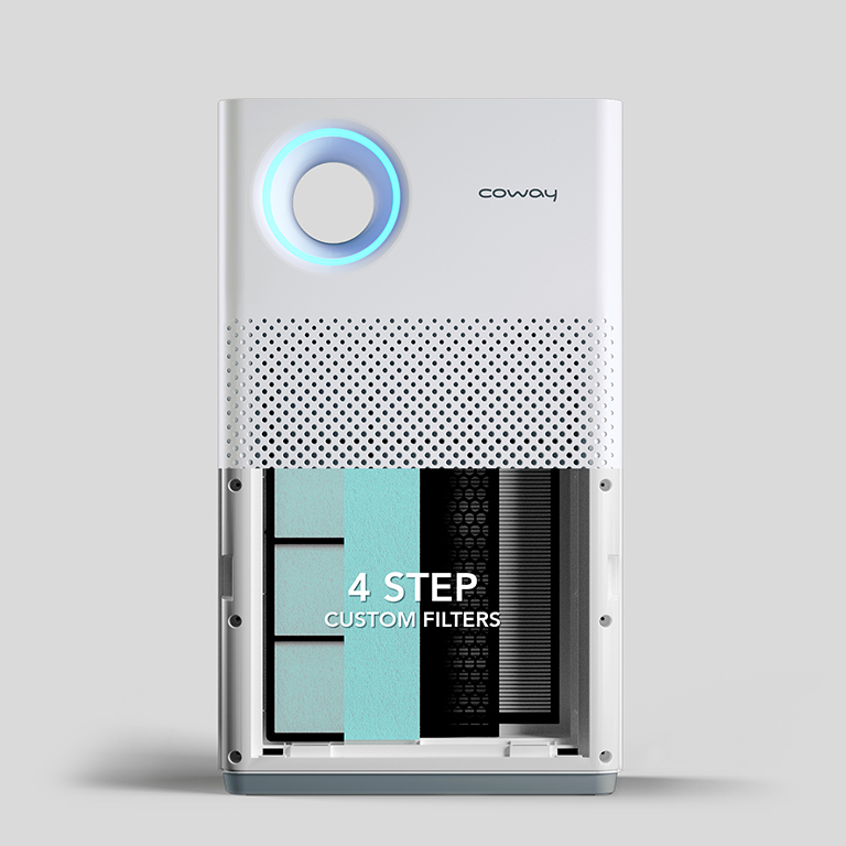 Remove Indoor Pollutants with 4 Step Custom Filter - Coway Breeze Air Purifier