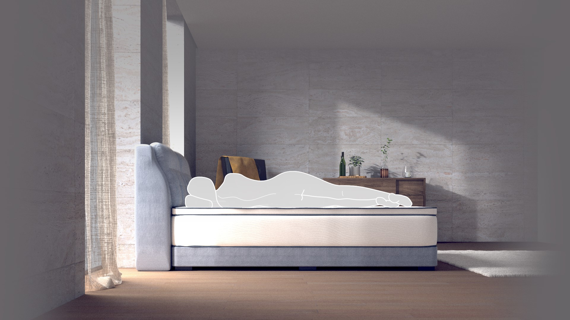 NEW Coway Prime: Premium Foam & Latex Mattress with Back Support and Contouring