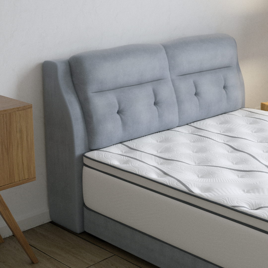 Bed Mattress Side View In Bedroom - Coway Prime Series