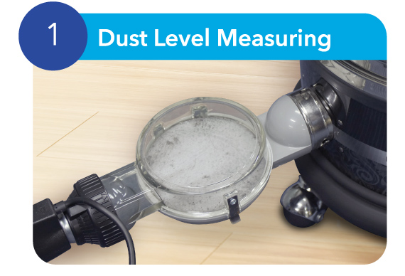Dust Level Measuring - Coway Mattress Care Service
